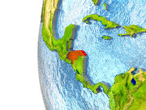 Honduras in red Stock Photo