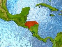 Honduras in red Royalty Free Stock Image