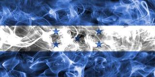 Honduras smoke flag. Isolated on a black background Stock Photos