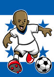 Honduras soccer player with flag background Stock Images