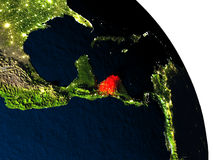 Honduras from space Stock Photography