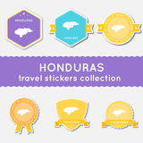 Honduras travel stickers collection. Stock Image