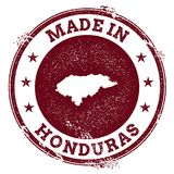 Honduras vector seal. Vintage country map stamp. Grunge rubber stamp with Made in Honduras text and map, vector illustration Royalty Free Stock Image