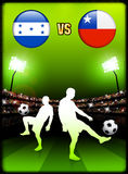 Honduras versus Chile on Stadium Event Background Royalty Free Stock Photo