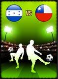 Honduras versus Chile on Stadium Event Background Royalty Free Stock Photo
