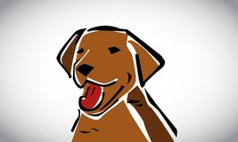 Hondvector en Pictogramontwerp royalty-vrije illustratie