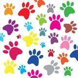 Hondvoetafdrukken Stock Afbeelding