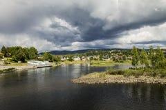 Honefoss挪威 免版税图库摄影