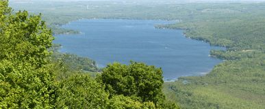 Honeoye Lake, Finger Lakes. Unique view of the Honeoeye Lake in the Finger Lakes region of upstate new york Stock Images
