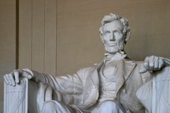 Honest Abe. Statue of Abraham Lincoln in the Lincoln Memorial Royalty Free Stock Image
