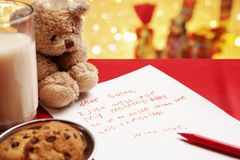 Honest child Christmas wish Royalty Free Stock Image