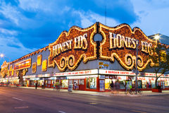 Honest Eds at Night Royalty Free Stock Image