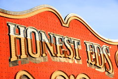 Honest Eds Sign Royalty Free Stock Image
