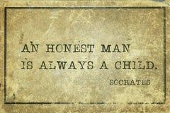 Honest man Socrates stock image