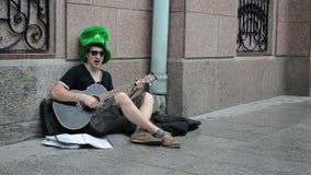 Honest singer guitar stock footage