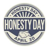 Honesty Day stamp. Honesty Day, April 30, rubber stamp, vector Illustration Royalty Free Stock Photos