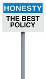 Honesty. A modified notice sign on Honesty royalty free stock photos
