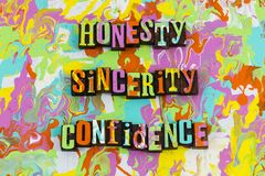 Honesty sincerity confidence royalty free illustration