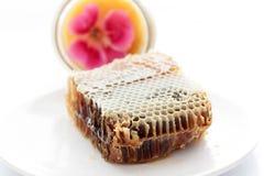 Honey. Slice of honey isolated on white Royalty Free Stock Image