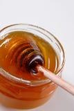 Honey. Jar of fresh summer honey Royalty Free Stock Photos