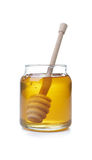 Honey. Jar with  Dipper Stock Images