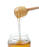 Honey. Jar with  Dipper Stock Photography