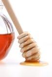 Honey. Jar isolated a white background Royalty Free Stock Photo