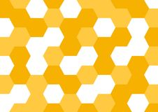Honey abstract background with yellow honeycombs. Vector illustration royalty free illustration