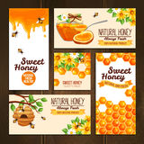 Honey Advertising Banners Libre Illustration