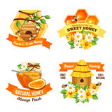 Honey Advertising Labels Royalty Free Stock Image