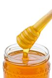 Honey against white background Royalty Free Stock Photo