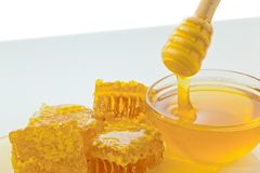 Honey against white background Stock Image