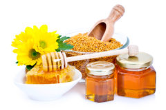Honey And Bee Pollen Stock Images