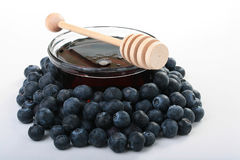 Honey And Blueberry Royalty Free Stock Image