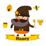 Honey and apiary eps10 Royalty Free Stock Photography