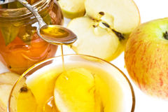 Honey and apple Royalty Free Stock Photography