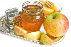 Honey and apple Royalty Free Stock Photo