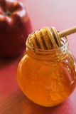 Honey and apple Stock Photography