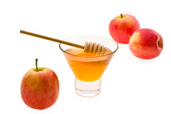 Honey and apple Stock Photo
