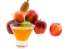 Honey and apple Stock Photos