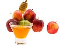 Honey and apple Stock Photos