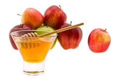 Honey and apple Royalty Free Stock Photo