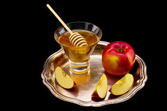 Honey and apple Stock Image
