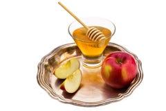 Honey and apple Royalty Free Stock Photos