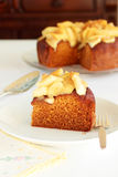 Honey apple cake Royalty Free Stock Photo