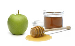 Honey and Apple Royalty Free Stock Photos