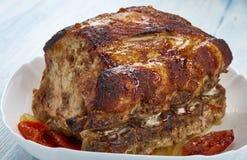 Honey Apple Pork Loin imagem de stock royalty free