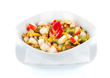 Honey and apple salad with vegetables Stock Photo