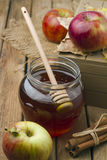 Honey and apples Stock Image