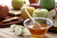 Honey and apples Royalty Free Stock Photo